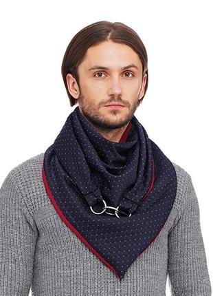 "Шарф-бактус ""эдинбург"", шарф-снуд, большой мужской шарф"