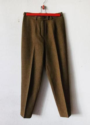 Винтажные шерстяные брюки burberrys of london высокая посадка