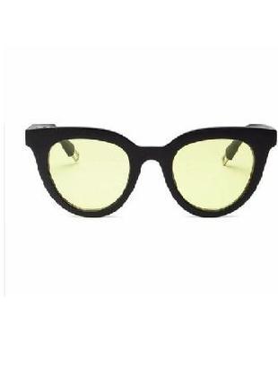 Распродажа! глянцевые очки черная оправа желтые линзы унисекс имиджевые