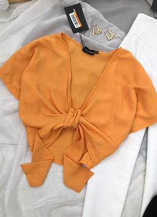 Желтая блуза-топ