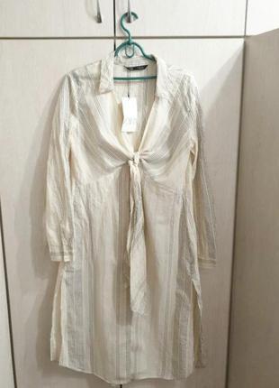 Рубашка zara платье