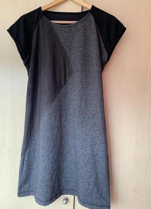 Базовое платье с разными вставками от onetwo