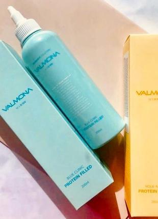 🌊восстанавливающая маска-филлер для волос valmona recharge solution blue 200 мл