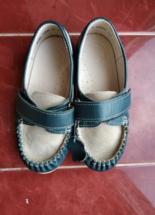 Новые кожаные мокасины туфли берегиня на мальчика 27 размер