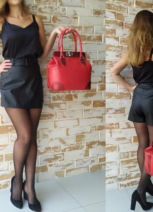В наличии! шикарная кожаная сумка-саквояж/ красная сумка