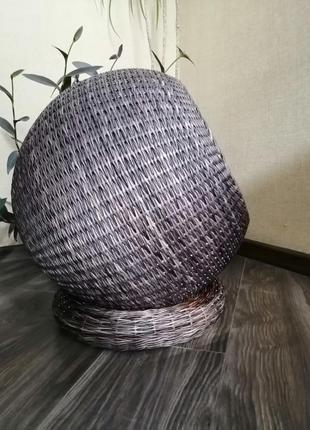 Плетеный домик лежанка для домашних животных