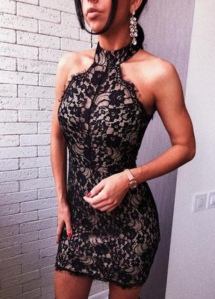 Платье по фигуре кружевное , платье новое new look