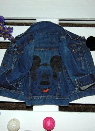 Кльова джинсовка з мікі маусом фірми baby gap ріст 110(4т.)