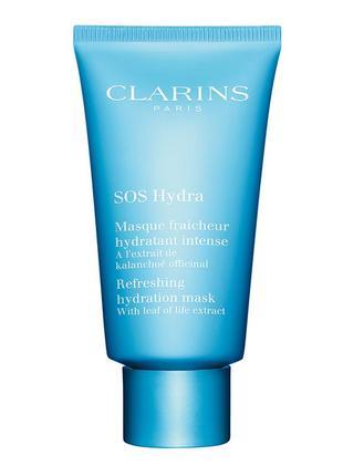 Увлажняющая маска с экстрактом каланхоэ sos hydra  clarins, 15мл.