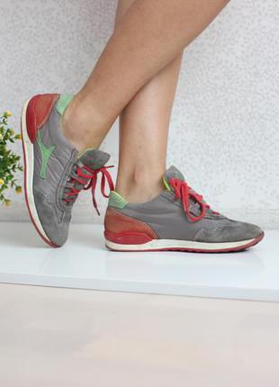 Замшевые кроссовки, натуральная кожа, замша, ортопедическая стелька