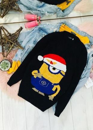 Новогодний свитер minions