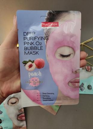Тканевая кислородная маска с экстрактом персика