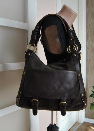 Кожаная сумка clarks / шкіряна сумка
