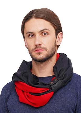 """Кашемировый шарф""""милан """", шарф снуд, большой мужской шарф"""