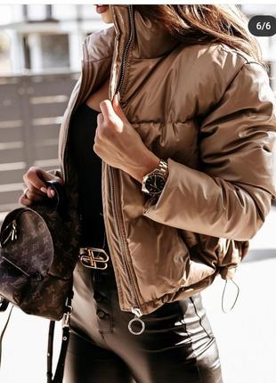 Куртка деми дутик кожзам