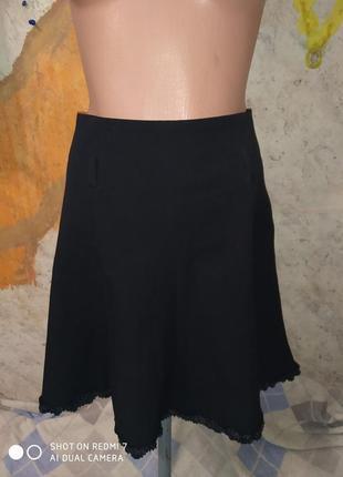 Милая красивая юбка с атласной оборочкой ahsen