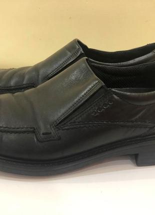 Ecco мужские демисезонные туфли 44р. б.у. кожа