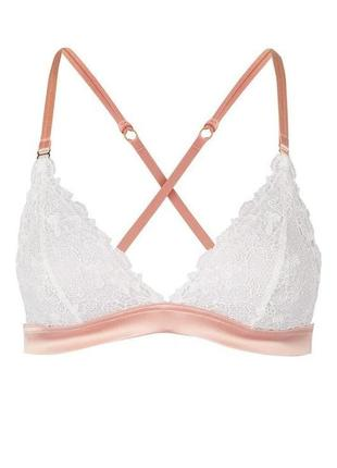 Кружевной лиф lace triangle bra by topshop bride - xs
