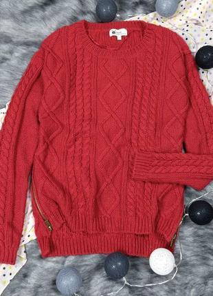 Вязаный свитер с косами next