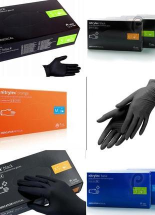 Перчатки нитриловые mercator medical
