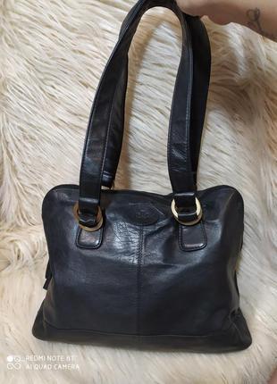 Крутая фирменная сумка из абалденной кожи лайки от rowallan