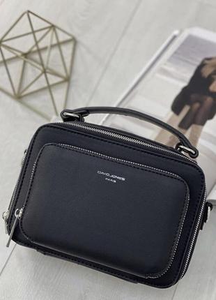 Сумка david jones женская черная маленькая клатч кросс-боди  / жіноча сумка чорна невелика