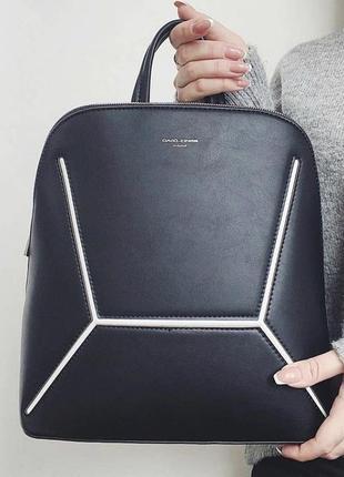 Качественный рюкзак david jones женский черный вместительный  / жіночий рюкзак чорний