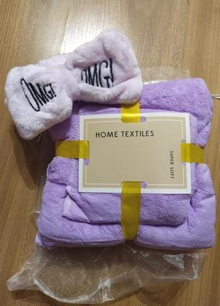 Подарочный набор полотенец + повязка на голову омг