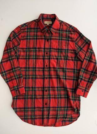 Оригинальная шерстяная удлиненная рубашка burberry