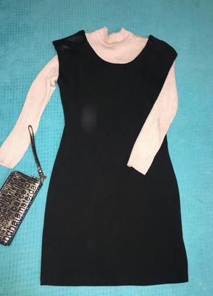 Стильное теплое платье - сарафан