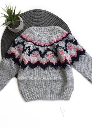 Теплый свитер / 9-15 мес