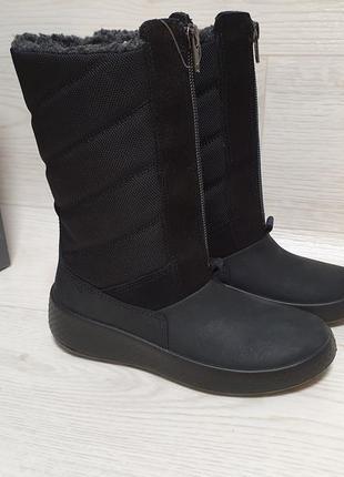Ecco ukiuk kids - зимние ботинки с gore - tex - 30, 31
