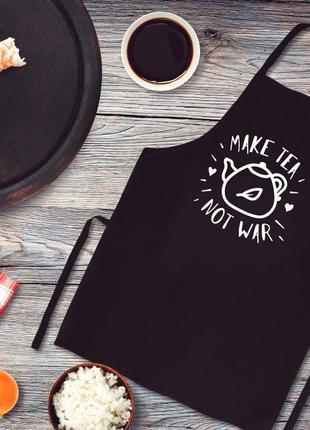 """Фа000319фартук с принтом """"make tea not war"""""""