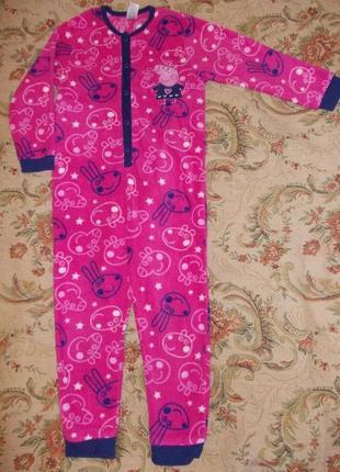 Пижама кигуруми слип комбинезон человечек на 2-3 года 92-98см