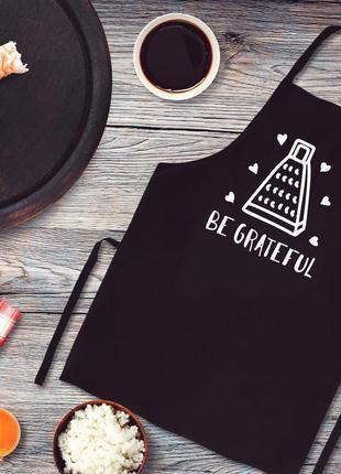 """Фа000316фартук с принтом """"be grateful"""""""