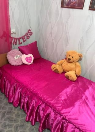 Покрывало розовое атлас