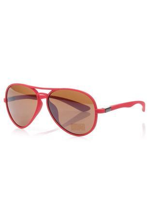 Модные летние очки с цветной оправой красные авиаторы