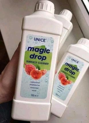 Універсальний очищувач поверхонь unice magic drop, 1000 мл
