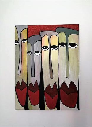 """Интерьерная картина, абстракция """"faces"""""""