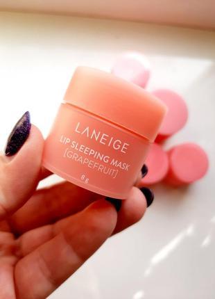 Laneige lip sleeping mask grapefruit 8г ночная маска для губ грейпфрут