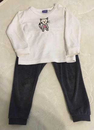 Велюровый костюм lupilu