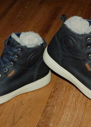 Кожаные зимние ботинки на мембране 39 р ecco goretex оригинал