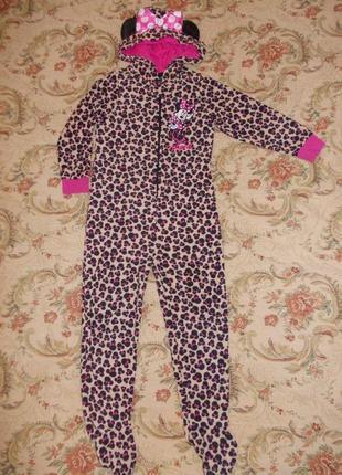 Пижама кигуруми слип человечек минни маус на 4-5 лет рост 104-110 см
