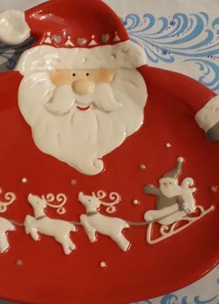 Блюдо новогоднее дед мороз