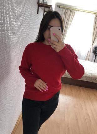 Красный ❤️ тёплый свитер свитерок джемпер пуловер свитшот кофта