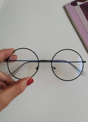 Очки имиджевые в круглой оправе, круглые очки