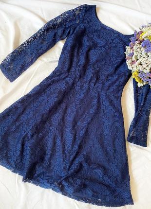 Синее платье house