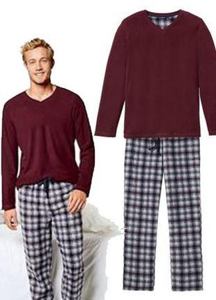 Теплый флисовый костюм, пижама из флиса, xl 56-58, livergy, германия