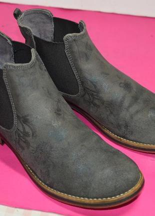 Женские  кожаные  ботинки  s. oliver  (germany)