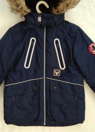 Фирменная деми куртка kids на 6-7лет р.116-122